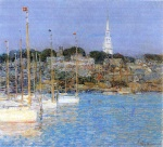 Childe Hassam - paintings - Cat Boats, Newport