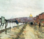 Childe Hassam - Bilder Gemälde - Charles River und Beacon Hill
