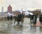 Childe Hassam - paintings - Clearing Sunset (Berkeley Street Ecke Columbus Avenue)