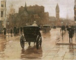 Childe Hassam - paintings - Columbus Avenue, regnerischer Tag