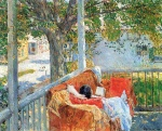 Childe Hassam - paintings - Couch auf der Veranda, Cos Cob