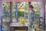 Childe Hassam - paintings - Das Goldfischfenster