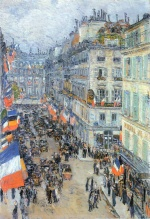 Childe Hassam - paintings - Der 14. Juli, Rue Daunou