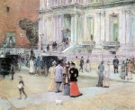 Childe Hassam - paintings - Der Manhattan Club (Die Villa der Stewarts)