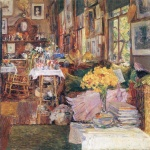 Childe Hassam - paintings - Der Raum der Blumen