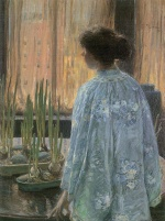 Childe Hassam - paintings - Der Tischgarten