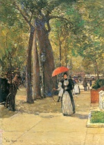 Childe Hassam - Bilder Gemälde - Die Fifth Avenue beim Washington Square