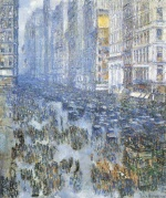 Childe Hassam  - Bilder Gemälde - Fifth Avenue