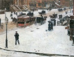 Childe Hassam  - Bilder Gemälde - Fifth Avenue im Winter
