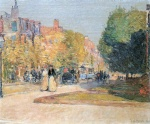 Childe Hassam  - Bilder Gemälde - Malborough Street, Boston