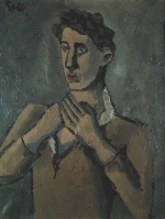 Helmut Kolle - paintings - Der Enthusiast - Bildnis Jean Cocteau