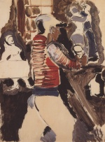 Helmut Kolle - paintings - Jockey in einer Bar