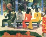 Paul Gauguin - paintings - Ta Mataete (We Shell not go to Market Today)
