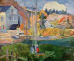 Paul Gauguin - Bilder Gemälde - Die David Mühle in Pont Aven