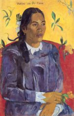 Paul Gauguin - paintings - Woman with a Flower