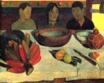 Paul Gauguin - paintings - The Meal (The Bananas)