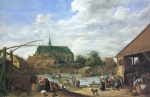 David Teniers - paintings - Der Bleichgrund