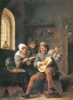 David Teniers - paintings - Der Lautenspieler