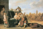 David Teniers - paintings - Der Maler und seine Familie