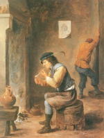 David Teniers - paintings - Der Raucher