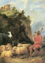 David Teniers - paintings - Der zufriedene Hirte
