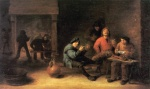 David Teniers - paintings - Die Raucher