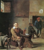 David Teniers - paintings - Dorfkneipe