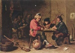 David Teniers - paintings - Drei musizierende Bauern