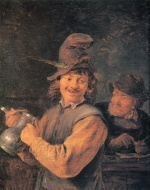 David Teniers - paintings - Ein rauchender Bauer