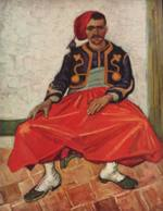 Vincent Willem van Gogh - paintings - Zouave Milliet Seated