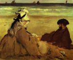 Edouard Manet - paintings - On The Beach