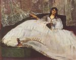 Edouard Manet - paintings - Baudelaires Mistress Reclining