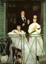 Edouard Manet - paintings - The Balcony