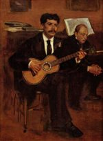 Edouard Manet - paintings - Der Gitarrist Pagans und Monsieur Degas