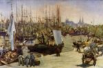 Edouard Manet - paintings - The Habour at Bordeaux