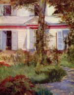 Edouard Manet - paintings - The House at Rueil