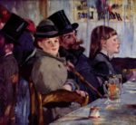 Edouard Manet - paintings - At the Cafe