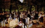 Edouard Manet - paintings - Music in the Tuileries Gardens