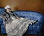 Edouard Manet - paintings - Portrait of Mme Manet on a Blue Sofa