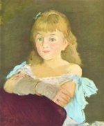 Edouard Manet - paintings - Portraet der Lina