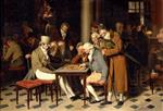 Louis Leopold Boilly - Bilder Gemälde - Game of Draughts at the Cafe Lamblin