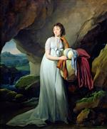 Louis Leopold Boilly  - Bilder Gemälde - Portrait of a Woman in a Cave