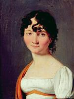 Louis Leopold Boilly  - Bilder Gemälde - Portrait of Mrs Louis de Marizy