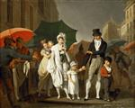 Louis Leopold Boilly  - Bilder Gemälde - The Downpour