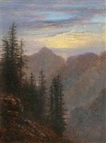 Carl Gustav Carus  - Bilder Gemälde - View of the Mountains at Dusk