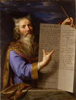 Philippe de Champaigne - Bilder Gemälde - Moses with the Tablets of the Law