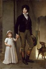 Francois Pascal Simon Gerard - Bilder Gemälde - Jean-Baptiste Isabey and his Daughter, Alexandrine