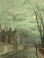 John Atkinson Grimshaw  - Bilder Gemälde - Under the Moonbeams