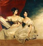 Thomas Lawrence - Bilder Gemälde - A double portrait of the Fullerton sisters