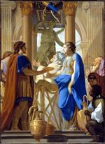 Eustache Le Sueur - Bilder Gemälde - Camma Offers the Poisoned Wedding Cup to Synorix